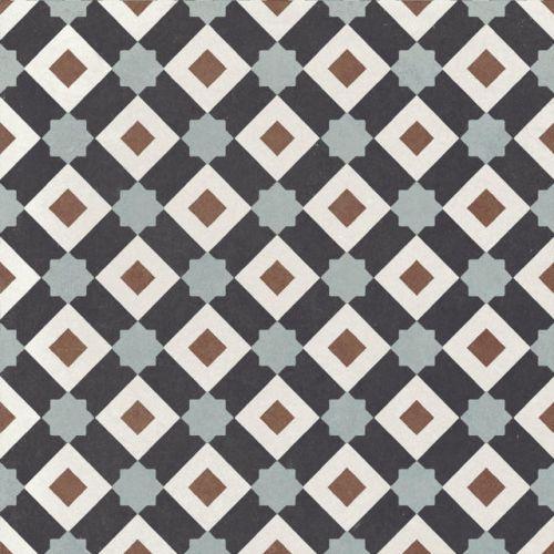 Deco 1 200 x 200 Encaustic Style Tile