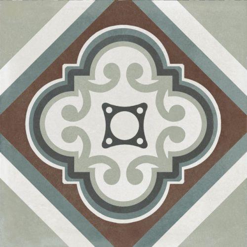 Deco 2 200 x 200 Encaustic Style Tile
