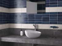 Cosmopolitan Blue Satin Wall Tile 65 x 200