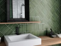 Cosmopolitan Green Satin Wall Tile 65 x 200