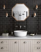 Luton Black Wall Tile 75 x 150