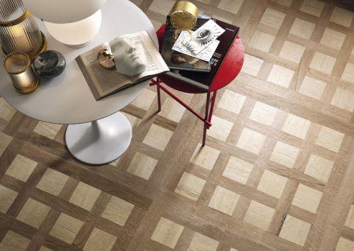 Woodland Inlay Beige Floor Tile 600 x 600
