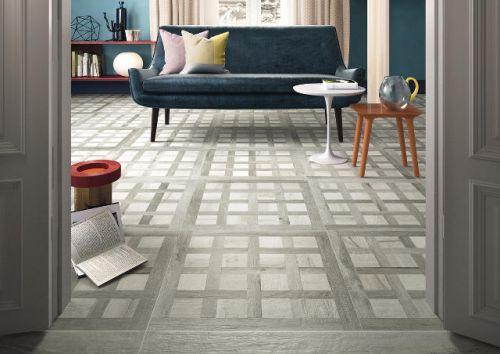 Woodland Inlay Grey Floor Tile 600 x 600