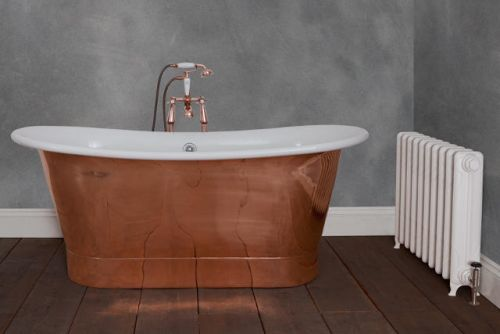 Normandy Enamel Interior Copper Bath