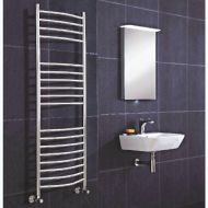 Curved Stainless Steel Radiator 500mm Wide