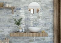 Woodcraft White Blend Wall Tile 75 x 300
