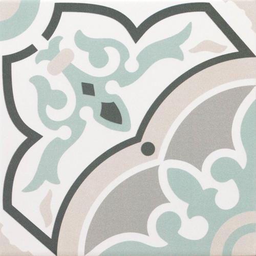 Renaissance Alba 200 x 200 Encaustic Style Tile