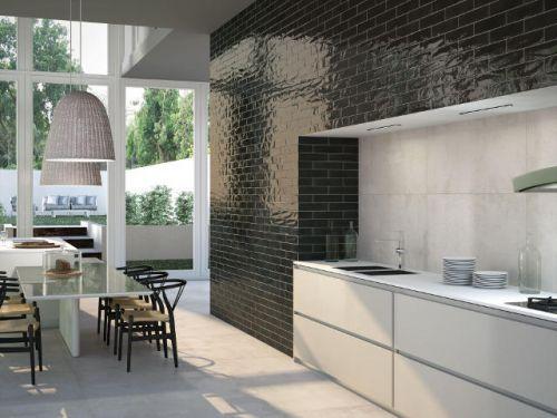 Baker Street Black Wall Tile 75x300