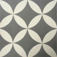 Encaustic Tile - VA Orla Handmade Grey Encaustic Tile 20cm x 20cm