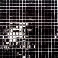 Coral Black Glass Mosaic Wall Tile 300 x 300