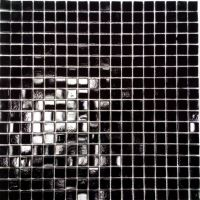 Coral Black Glass Mosaic Wall Tile 300 x 300