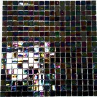 Dazzle Black Glass Mosaic Wall Tile 300 x 300