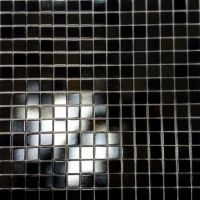Shimmer Black Glass Mosaic Wall Tile 330 x 330