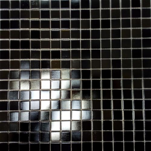 Shimmer Black Glass Mosaic Wall Tile 330 x 330