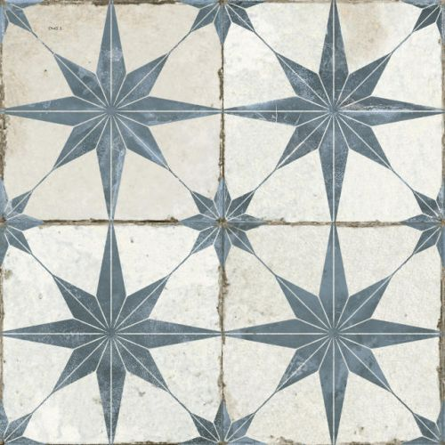 FS Heritage Star Blue Floor Tile 450 x 450