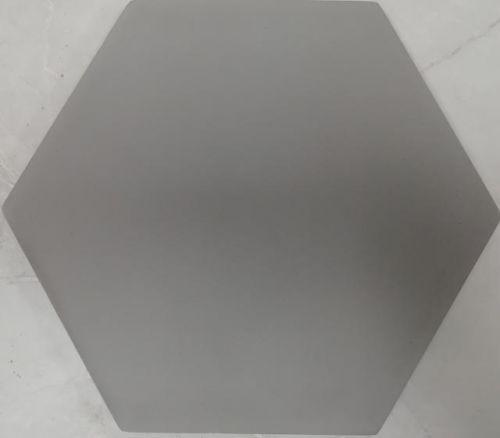 Encaustic Tile - VA Hexagon Handmade Grey Plain Encaustic Tile 20cm x 23cm