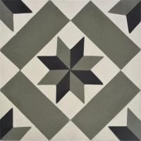 Encaustic Tile - VA Chelsea Handmade Encaustic Tile 20cm x 20cm