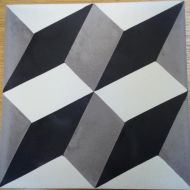 Encaustic Tile - VA Cube Handmade Encaustic Tile 20cm x 20cm