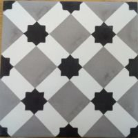 Encaustic Tile - VA Marrakech Handmade Grey Encaustic Tile 20cm x 20cm