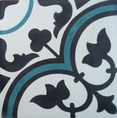 Encaustic Tile - VA Seville Handmade Aqua Encaustic Tile 20cm x 20cm
