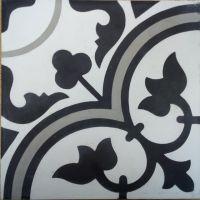 Encaustic Tile - VA Seville Grey Handmade Encaustic Tile 20cm x 20cm