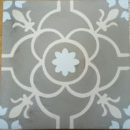 Encaustic Tile - VA Tangier Handmade Encaustic Tile 20cm x 20cm