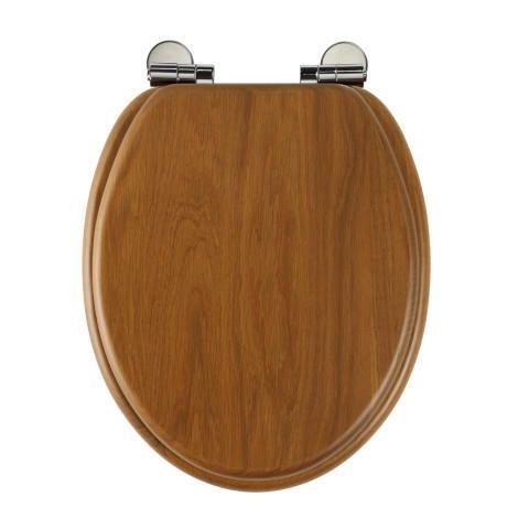 Solid Oak Soft Close Toilet Seat Honey Oak
