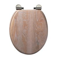 Solid Oak Soft Close Toilet Seat Limed Oak