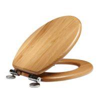 Solid Oak Soft Close Toilet Seat Natural Oak