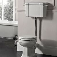 Pure York Low Level Toilet Pan, Cistern and Flush Pipe Kit