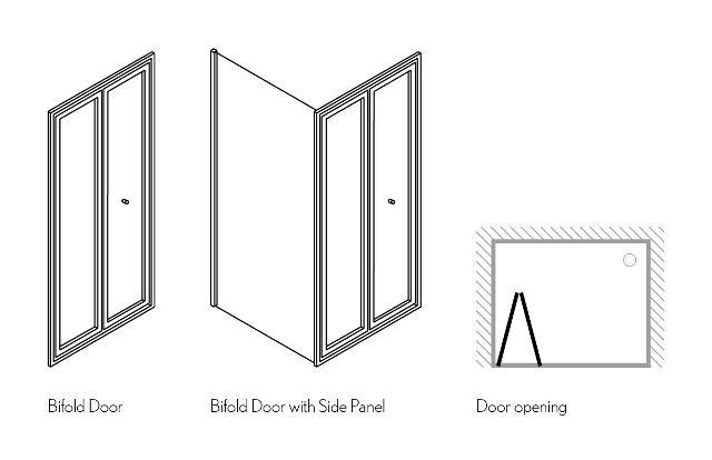 Edge Bifold Shower Door The Tile Company